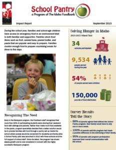 School Pantry Report - FY 2015