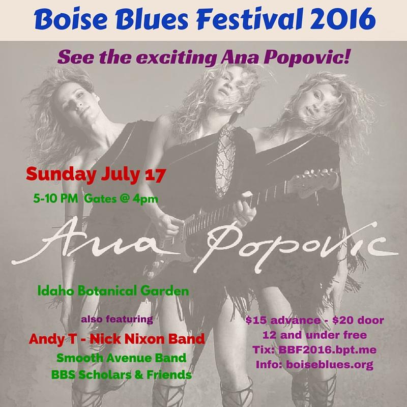 Boise Blues Festival 2016