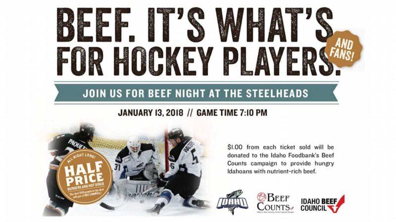 Beef Night on the Ice with Idaho Steelheads