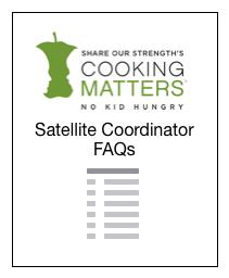 Cooking Matter Timeline