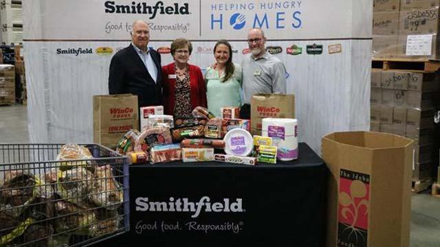 Smithfield WinCo Protein Donation