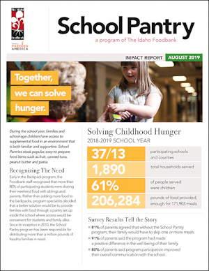 2019 School Pantry Impact Report
