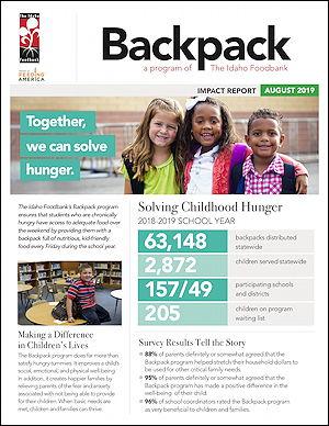2019 Idaho Foodbank Backpack Impact Report