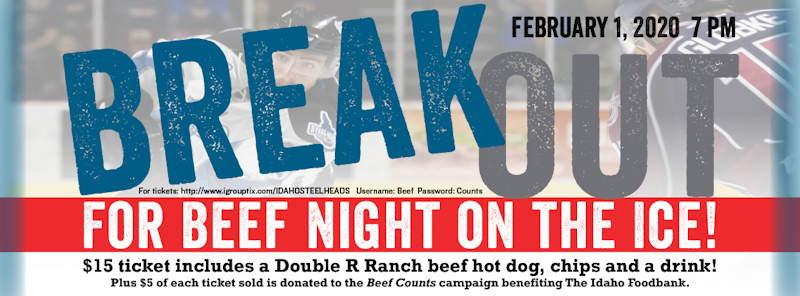Beef Night on the Ice Idaho Steelheads
