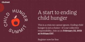 Chobani Hunger Summit